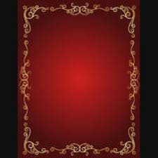 stylish page wedding red gold stylish invitations cover page borders design
