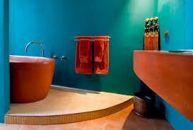 unique bathroom furniture. Bathroom Archaic And Unique Furniture Design Ideas In Blue Colored Wall