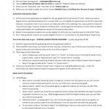 Federal Jobs Resume Examples Sarahepps Com