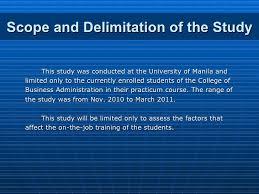 Delimitations of a dissertation   report    web fc  com