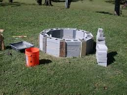 stylish how to make a cinder block fire pit round cinder blocks beginning of fire pit