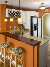 Perham, MN, Kitchen Remodel  Orange Wall, White Cabinets