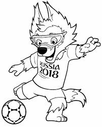 mascote copa do mundo 2018 para imprimir e colorir