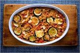 baked orzo with zucchini