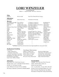 Acting Resume Templates Fascinating Sample Talent Resume Simple Resume Examples For Jobs