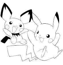 impres pages free printable pikachu coloring pages