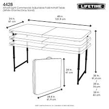 rectangular folding table lifetime tables 80230 round 33 inch putty