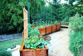 raised garden bed for deck deck garden ideas planter design ideas deck traditional with planter boxes