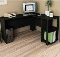 corner workstations for home office. Computer Corner Desk L-Shaped Workstation Home Office Student Furniture Black RV Workstations For