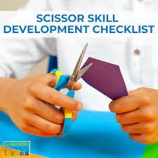 Scissor Skill Development Checklist For Ages 2 6 For