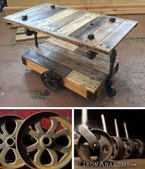 industrial furniture diy. Carol\u0027s Sweet DIY Industrial Pallet Coffee Table Cart With Wheels From IronAnarchy.com Furniture Diy