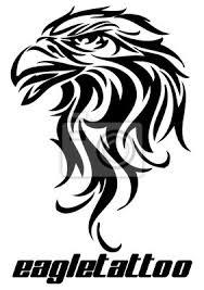 Fototapeta Vektorové Ilustrace Tetování Orel
