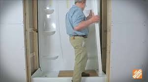 Image Wall Panels How To Install Directtostud Shower Enclosure Bath How To Videos And Tips At The Home Depot Home Depot How To Install Directtostud Shower Enclosure Bath How To