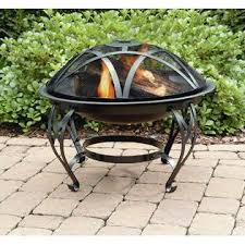 Garden Oasis Fire Pit Interesting Backyard Design With Treasures 26 In  Round Scroll Detail Cover