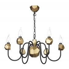 sha0654 shard 6 light black gold ceiling light
