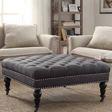 ottomans poufs wayfair intended for round coffee table storage ottoman