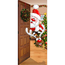 Santa Door Design Victory Corps Christmas Front Door Banner Mural Sign Decor Santa And Rudolph The Original Holiday Garage And Front Door Banner Decor
