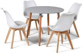 toulouse tulip eiffel designer dining set grey round table 4 white chairs now on your furniture