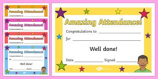 Attendance Award Template Free Amazing Attendance Award Certificate