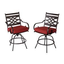 bar height patio chair: middletown patio motion balcony chairs with chili cushion  pack