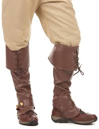 brown imitation leather boot covers accessories and fancy dress costumes vegaoo