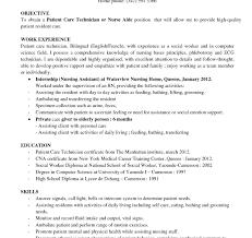 Nurse Tech Job Description Resume Nurse Technician Skills For Resume Tech Duties Objective Student 4