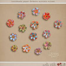 Paper Flower Designs Handmade Paper Flowers Autumn Sunset