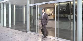 assa abloy sl510 f sliding door system in office building