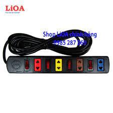 Ổ cắm kéo dài LiOA 2200W 4 ổ cắm 2 chấu 4 công tắc 3 mét dây - Ổ cắm điện