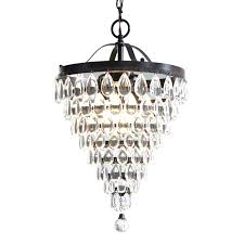 chandeliers mini crystal chandelier style selections 3 light antique bronze crystal chandelier mini crystal