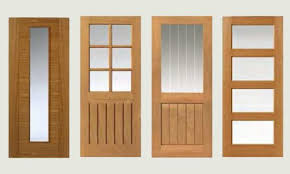 china solid wooden doors frosted or