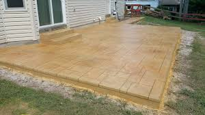 stained concrete patio. Light Brown Stained Concrete Patio Stamped Pattern