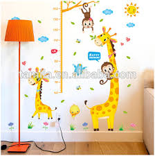 Baby Height Wall Chart Fashion Kids Height Growth Chart Wall Sticker Giraffe Wall Chart For Baby Learning Height Measurement Sticker Buy Childrens Educational Wall