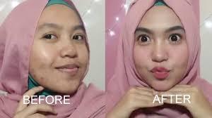 tutorial makeup sehari hari untuk wajah berjerawat parah murah