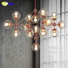 usd 124 37 piece fumat glass ball chandelier modern nordic luminaire re living room light rose gold glass chandeliers