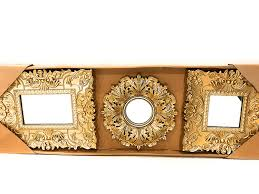 com better homes and gardens set of 3 baroque wall mirrors gold home kitchen