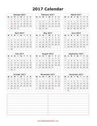 blank calendar template cyberuse blank calendar 2017 notes portrait