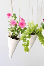 Hanging Planters Ice Cream Cone Diy Hanging Planters Helloglowco