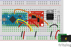 warning an arduino pro mini clone might not be able to take in 12v check the rating on the board the safest solution is to use a 5v regulator before
