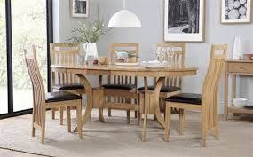 oval kitchen table and chairs. Townhouse Oval Extending Dining Table And 6 Bali Chairs Set Kitchen