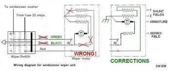 windshield wiper wiring diagrams sw em wndshield wiper systems reference information