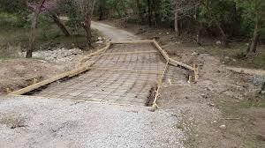 water crossing concrete framing prep