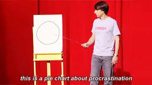 Pie Chart Of Procrastination Demetri Martin Procrastination Gif Find Share On Giphy