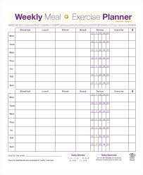 Daily Exercise Log Weekly Exercise Template Tailoredswift Co