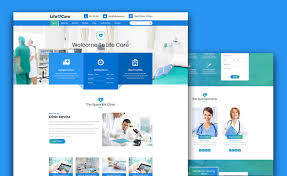 Parallax Website Template Adorable Life Care Free Medical Website Template For Hospitals Clinics