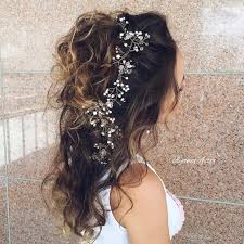 half up half down hairstyles wedding. long curly and messy half updo for bridesmaids up down hairstyles wedding n