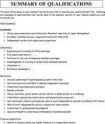 what is a summary on a resumes skills summary resume sample resume examples summary of
