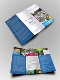 3 column brochure modern colorful non profit flyer design for a company by mrlee
