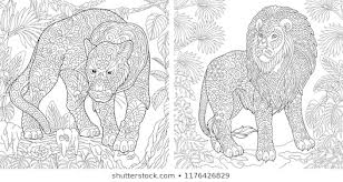 Animal Coloring Animal Coloring Page Images Stock Photos Vectors