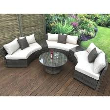 curved outdoor sofa aerial view of sofa curved outdoor seating uk